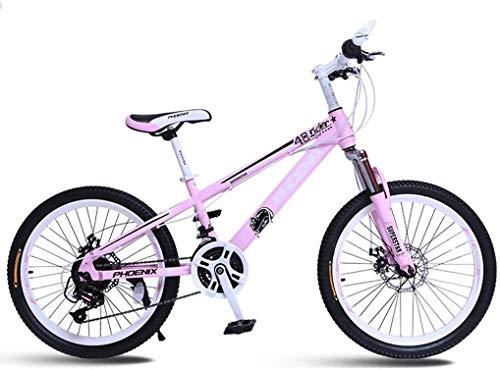 Xiaoyue Fahrräder Studenten Fahrrad Junge und Mädchen Kinderwagen Transport Scooter for Kinder Racing Sport-Auto-Camper (Farbe: Rosa, Größe: 20inches) lalay (Color : Pink, Size : 20inches)