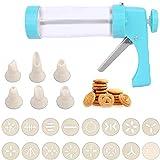 Prensa de Repostería, Máquina de Galletas, Prensa de Cookies, Viene con 16 Plantillas y 6 Boquillas, se Utiliza para Hacer y Decorar Galletas de Bricolaje