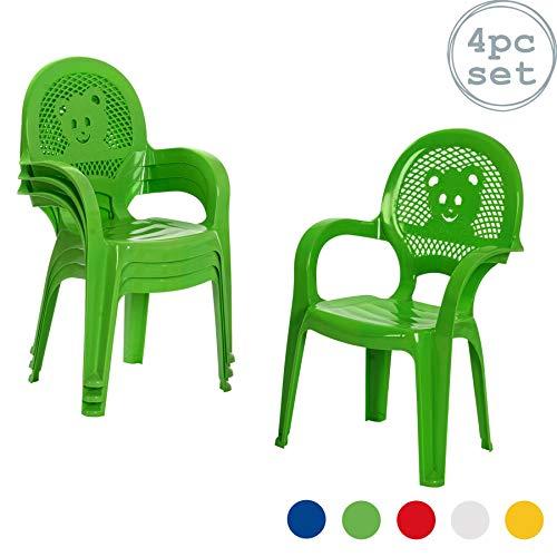 Der Garten-Plastikstuhl Resol-Kinder - Grün- (Satz von 4 Stühlen)