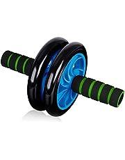 عجلة منزلية مزدوجة لا تصدر صوتًا لتمارين عضلات البطن واللياقة البدنية