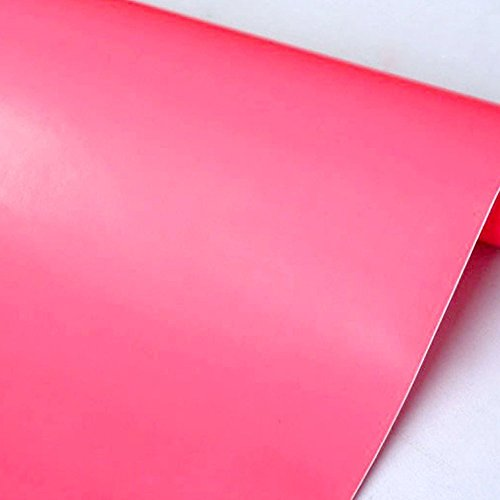 Yifely Pink Girl Self-Adhesive Shelf Liner Solid Color Furniture Decor Paper Refurbish Dresser Drawers Beauty Case 17.7 Inch by 9.8 Feet