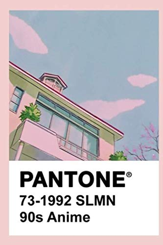 Pantone 90S Anime Notebook: (110 Pages, Lined, 6 x 9)