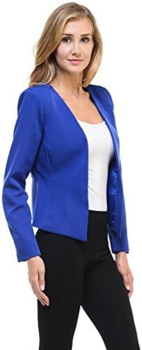 Royal blue suit for ladies _image4