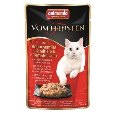 animonda m. Hühnchenf.& Rindfl. i. Tomatens.  18x50g