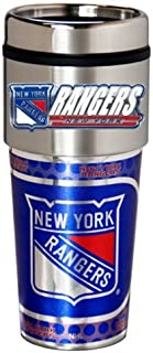 Great American Products NHL Metallic Travel Tumbler, Stainless Steel and Black Vinyl, 16-Ounce