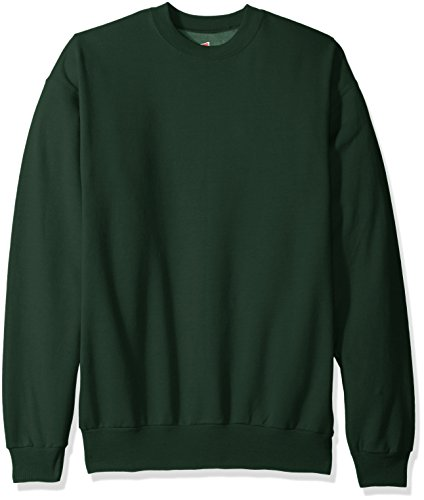 Hanes Men's Ecosmart Fleece Sweatshirt, Deep Forest, Large