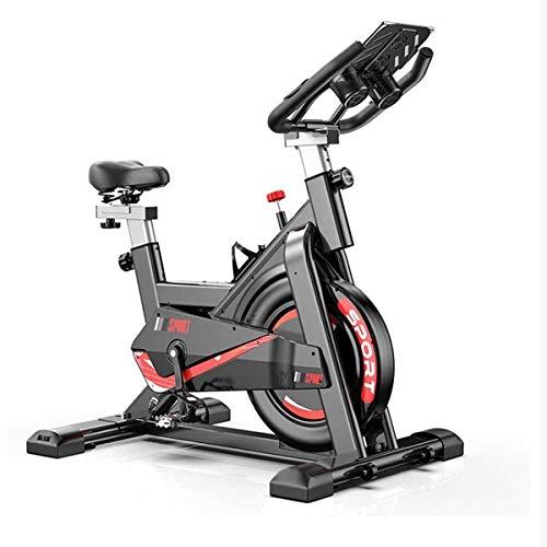 UIZSDIUZ Cubierta Aerobic Bicicleta de Ejercicio con el Soporte de la Tableta, Ultra silencioso estacionario Resistencia Infinita Vuelta de la Bici for el hogar Equipo de la Aptitud