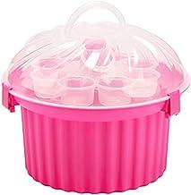WOLFCUT 4260643351587 Boîte à Muffin Plastique Rose Transparent