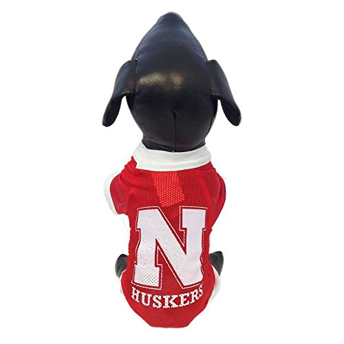 NCAA Nebraska Cornhuskers Athletic Mesh Dog Jersey (Team Color, X-Small)