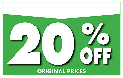 """Adlife Office Retail Store Signs � Card Stock Product Display Signs - Retail Sale Signs/Retail Tags - 'Percentage Off' Retail Signs - 5.5"""" x 3.5"""" Retail Display Signs - 100 Sign Pack Photo #8"""