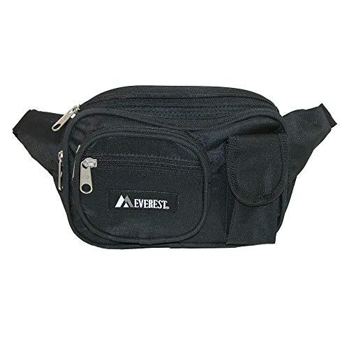 Everest Ensemble de poches à poches multiples pour homme Taille unique Noir