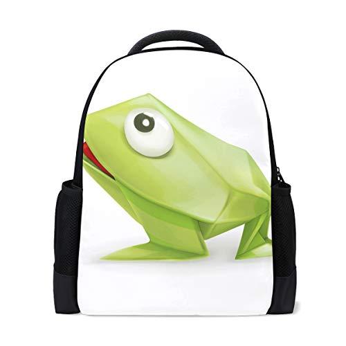 MALPLENA Daypack Frosch Papier Faltbare Schultasche Reisetasche
