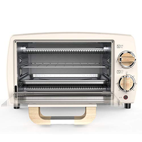 Mini forno da tavolo 10L, scatola da pasticceria compatta, controllo della temperatura su vasta area 100-230 ℃, risparmio energetico e risparmio energetico da 800 W, tempo 0-60 minuti