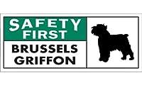 SAFETY FIRST BRUSSELS GRIFFON ワイドマグネットサイン:ブリュッセルグリフォン Mサイズ