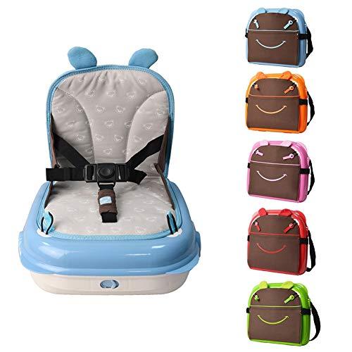 Comfort 2 in 1 Alzasedia Sedia Pieghevole Portatile Rialzo da Viaggio Rialzo da Sedia per Bambini Seggiolino da Booster Sedia da Pranzo Multifunzione Sicurezza Stabile Adatto Fino a 20 kg .Regolabile