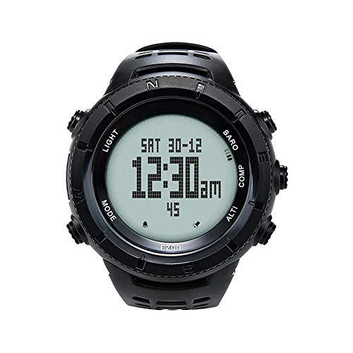 FENGJJ Reloj Militar Hombres, táctico Relojes, con el barómetro del altímetro del termómetro del compás a Prueba de Agua. (Negro)