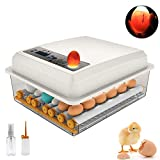 H HUKOER 18 Mini Egg Incubator Digital Fully Automatic Hatcher with Egg Turning for Chickens Ducks Goose Birds Quail