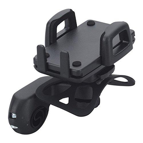 ergotec 06026001 Handyhalterung für Lenkerbügel, schwarz (1 Stück)