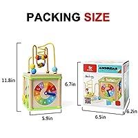 Top Bright - Cubo giocattolo multi-attività per bambini di 1 anno di età, giocattoli in legno per bambini di 12 mesi, regalo di compleanno #5