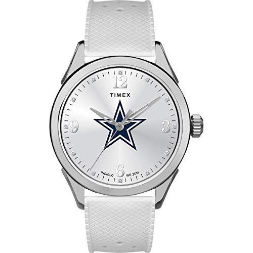 Timex Women s NFL Athena 40mm Watch – Dallas Cowboys with White Silicone Strap