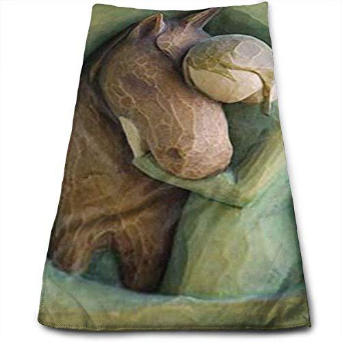 Willow Tree Quiet Strength Figur Superweich, maschinenwaschbar und hochsaugfähig, Handtuch (Gesichtstücher, für Zuhause, Fitnessstudio oder Sport),