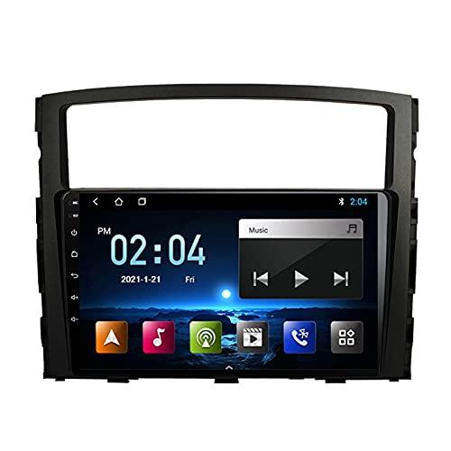 MGYQ Radio Coche Bluetooth Car Estéreo 9 Pulgadas Pantalla Táctil Reproductor MP5 Radio FM, con Cámara Trasera GPS para Mitsubishi Pajero 2006-2014 Apoyo Control del Volante,Quad Core,4G WiFi 2+32