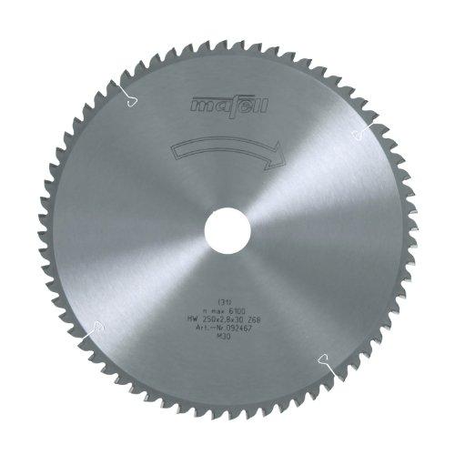 MAFELL 92467 HM-Kreissägeblatt, Z68 FZ/TZ, 250 mm x 2,8 mm x 30 mm
