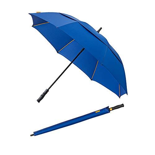 Falcone Parapluie de golf homme à ouverture automatique - Résistant au vent Bleu balein oranje paraplu, 97 cm, 160 liter, blauw (blauw)