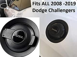 Muzzys Premium Matte Black Fuel Gas Filler Door Replacement Assembly Cap Vapor Edition FITS: 2008-2020 Dodge Challenger Mopar SRT8 Scat Pack Hellcat Demon SE R/T GT SXT 3.5L 3.6L 5.7L 6.1L 6.2L 6.4L