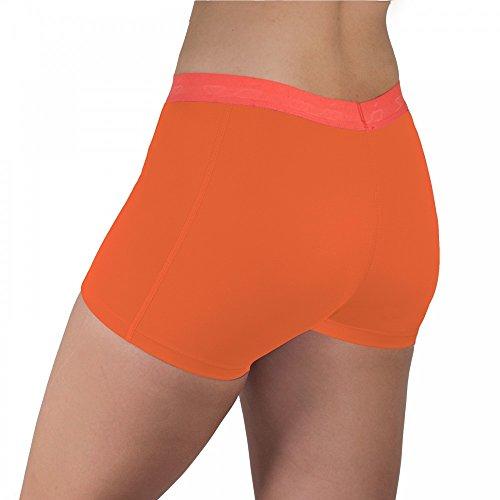 Sub Sports Womens Compression Shorts Hot Pants -Orange UK XS