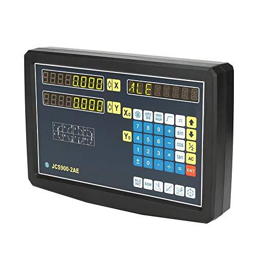 2-Achsen-Digitalanzeige DRO mit Zubehör Messgeräte Ausrüstung für Fräsmaschine, Drehmaschine, Drahtschneiden und andere Werkzeugmaschinen (110-240V)