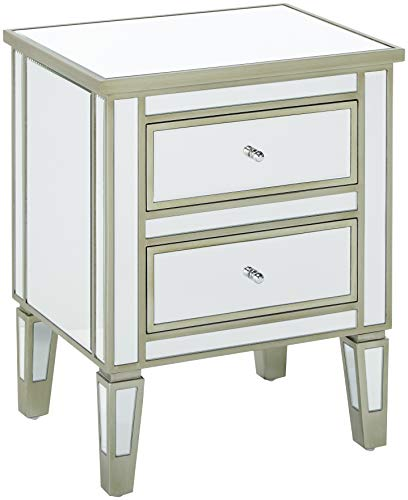 Christopher Knight Home Craferd Faux Wood Vintage 2-Drawers Table, Champagne