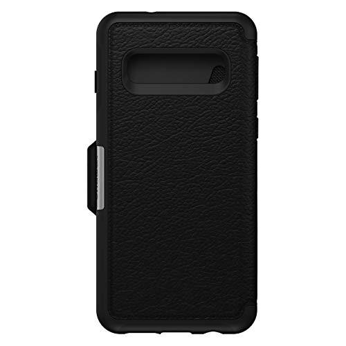 OtterBox Strada Etui - Elegante, sturzsichere Folio Schutzhülle aus echtem Leder für Galaxy S10, schwarz