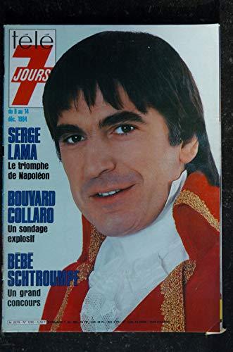 Télé 7 Jours 1280 * 1984 * Serge LAMA Napoléon - Bouvard Collard - Galabru