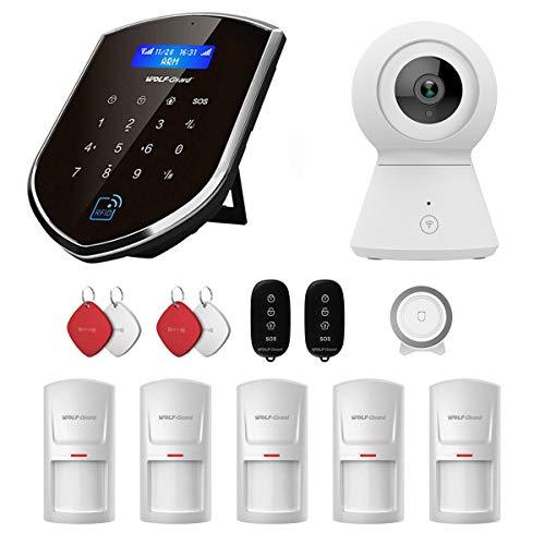 Sistema de seguridad para el hogar wolf-guard 3G   GSM Wifi (wm3gr) con cámara de detección de movimiento, kit de vigilancia de alarma para el hogar DIY Smart (WCDMA)