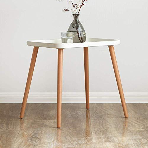 Goede tv-standaard lamp telefoon tafel bank bijzettafel eiken tafel ronde bijzettafel met metalen schaal, voor de woonkamer laptop bijzettafel creatieve opslag salontafel wit, MK