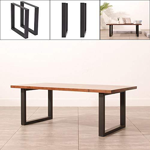 YORKING 2 STK Tischuntergestell Kufengestell Industrielook Tischbeine 43 x 40cm Schwarz für Bank Couchtisch Beistelltisch Esstisch