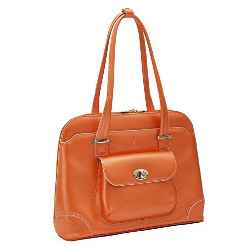 McKlein, W Serie, Avon, Rindsleder, 38,1 cm (15 Zoll) Laptoptasche, Orange (96650)