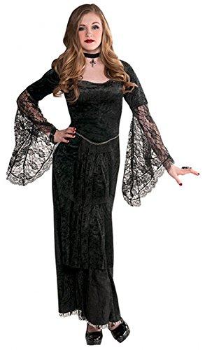 amscan 999447 Gothic-Kleid für Teenager, Alter 14–16 Jahre, 1 Stück, Schwarz, Ages 14-16