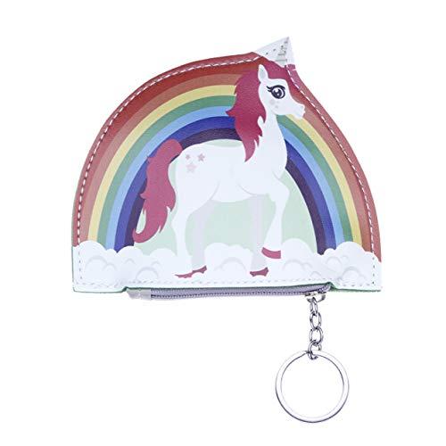 Aohua - Monedero de Unicornio mágico con Cremallera para Mujer y niña, diseño de Monedero