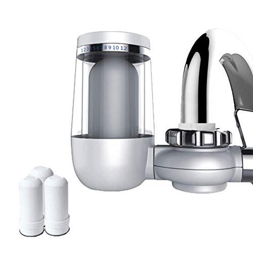 Pkfinrd Kraan Waterfilter met Geactiveerd Koolstof, Waterkraanfiltersysteem Verwijdert Lood & Chloor Past Standaard Kraan