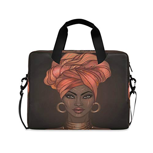 MAHU Laptop Case Bag African American Women Laptop Sleeves Briefcase 13 14 15.6 inch Computer Messenger Bag with Handle Strap for Women Men Boys Girls