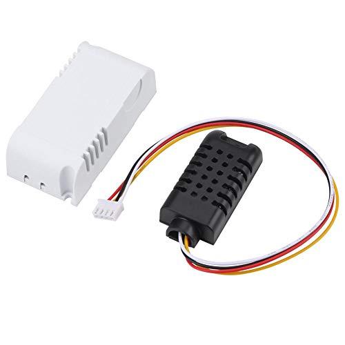 LANTRO JS - Sensor de temperatura y humedad LED, módulo de termostato de pantalla digital RS485 RTU con sensor externo