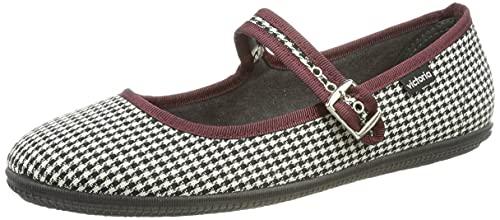 Victoria ODA Pata DE Gallo, Zapatos Mujer, Negro, 38 EU