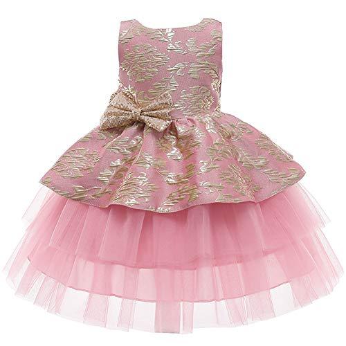 LZH Baby Girls Dress Flor Vintage Bordado Princesa Vestido Elegante para Fiesta...
