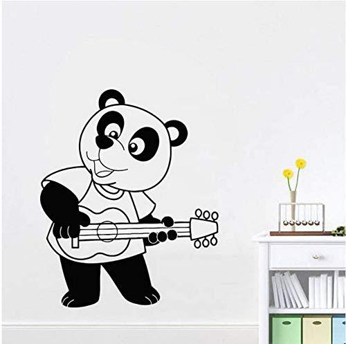 Panda pegatinas de pared de dibujos animados dormitorio infantil guardería...