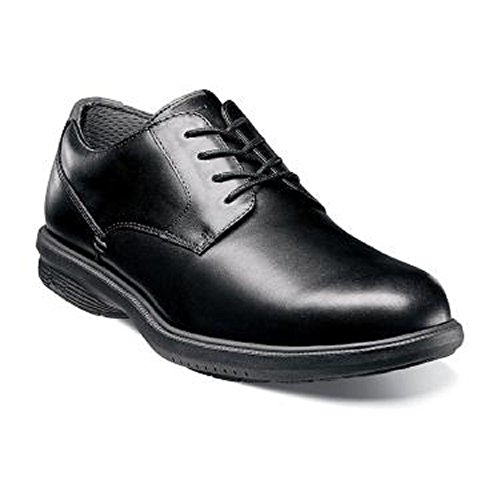 Nunn Bush Men's Marvin Street Plain Toe Oxford with Kore Slip Resistant Walking Comfort Technology, Black, 11