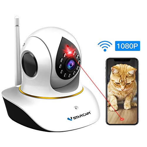 Pet Camera, VSTARCAM Dog Camera with Laser Wireless Cat Camera 1080P Baby Monitor Camera with 2 Way Audio, Night Vision Sound Motion Alerts, APP Remote Control Home Security Camera for Pet & Baby