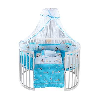 HEEGNPD Kinderbett für Kinder von 0-12 Jahren Multifunktionales Kinderbett mit Massivholzrolle,6