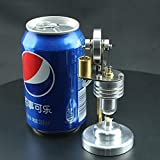 CCCYT Motor Stirling Modelo de Motor Stirling Vertical Soporte de aleación de Aluminio Herramienta de enseñanza de física Kits de Ciencia Juguete para niños